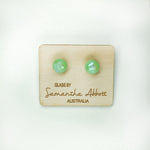 Sam Abbott Handmade Glass Earrings - Jade