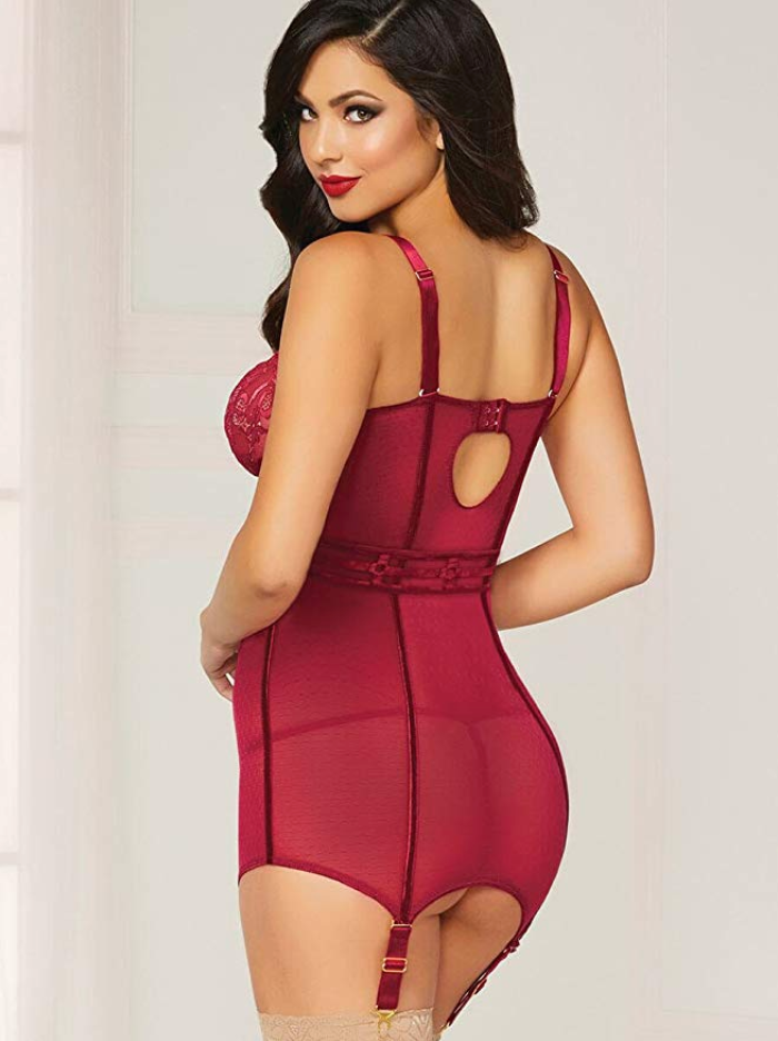 Seven Til Midnight - In Vogue Chemise Set - Wine