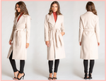 Faux Wool Nude Coat