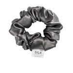 Pure Silk Scrunchie - Storm Cloud