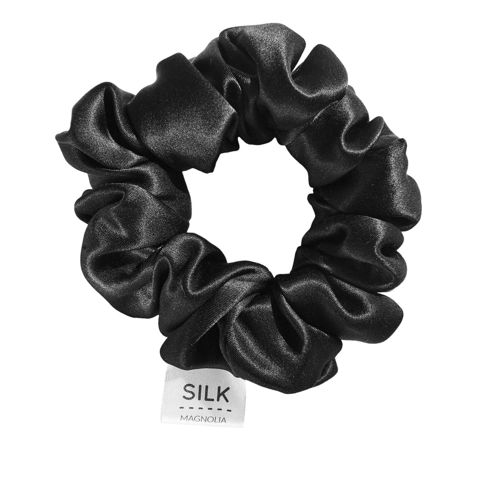 Pure Silk Scrunchie - Black