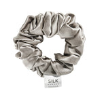 Pure Silk Scrunchie - Silver Mist