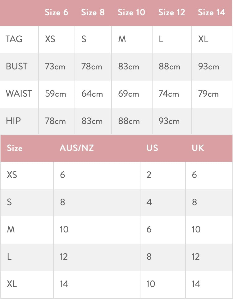 Size-Chart-Womens-Cheekybits-Boutique-Official