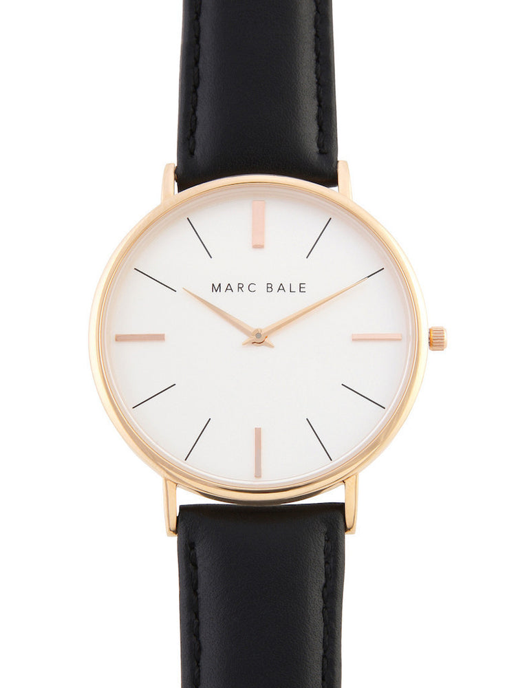 Marc Bale - Black Leather Watch