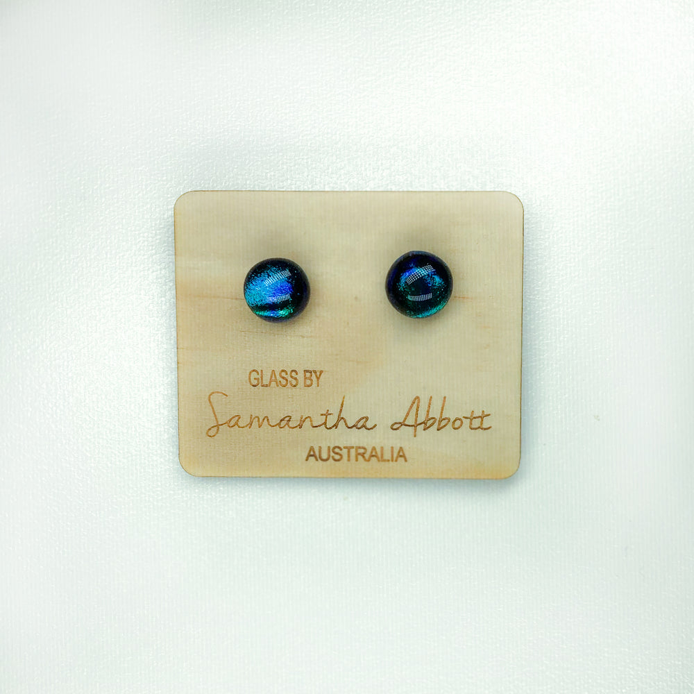 Sam Abbott Handmade Glass Earrings - Ocean Eyes