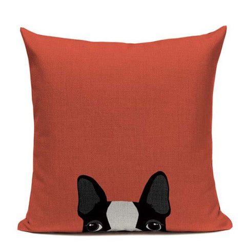 Hot Linen boston terrier Luxury Cushion Pillow (Limited Supplies Left)
