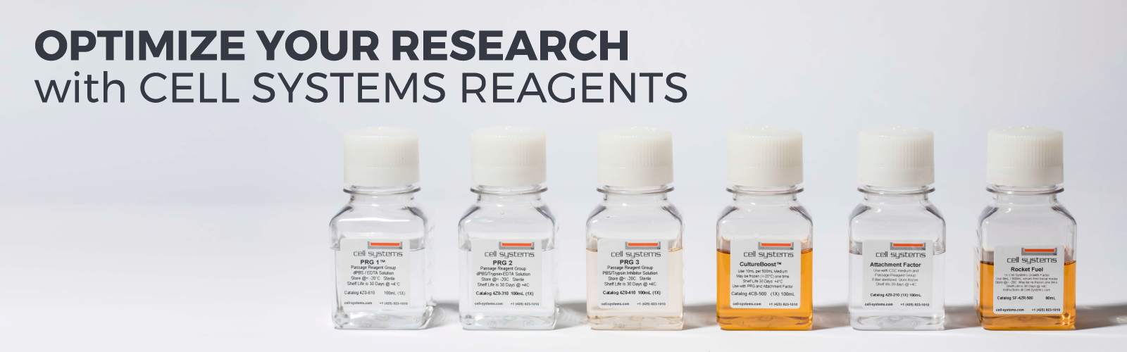 Optimize your research with CELL SYSTEMS REAGENTS