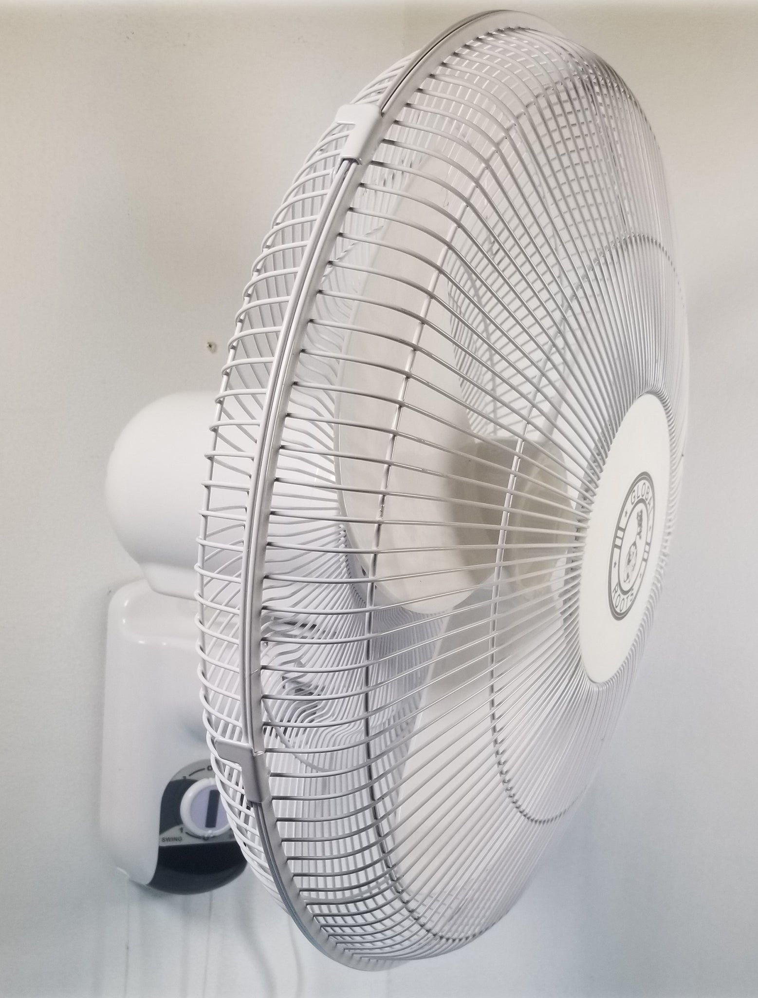 """16"""" Wall Mounted Oscillating Fan with 3 step speed control"""
