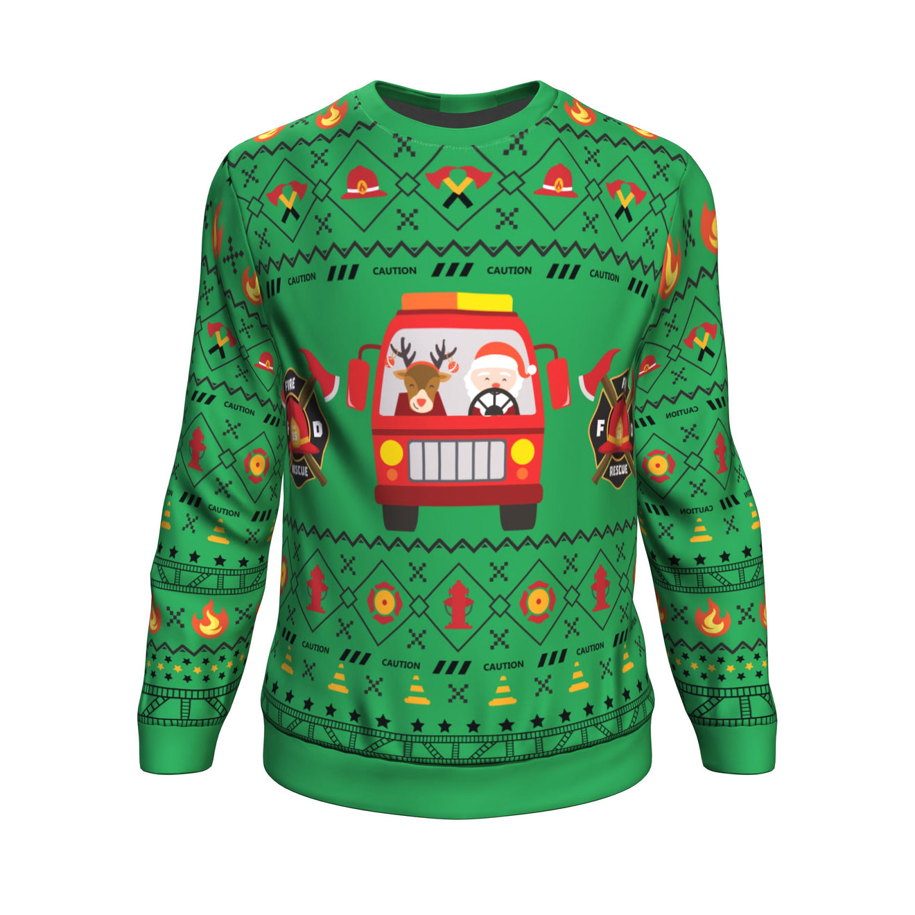 Christmas Firefighter Sweatshirt 2