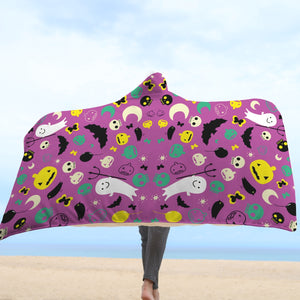 Halloween Hooded Blanket - Design 1