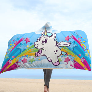 Cute Unicorn Hooded Blanket
