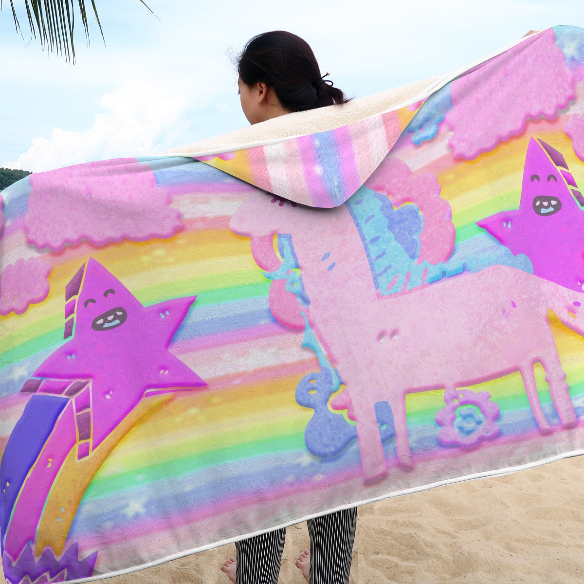 Stars & Unicorn Hooded Blanket