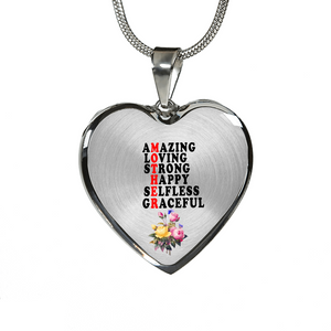 Amazing Loving Strong Happy Selfless Graceful (Necklace)