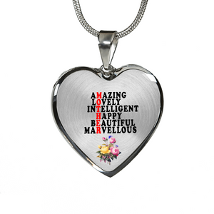 Amazing Lovely Intelligent Happy Beautiful Marvellous (Necklace)