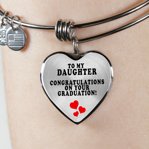 To My Daughter - Congratulations On Your Graduation (Bangle - Silver)