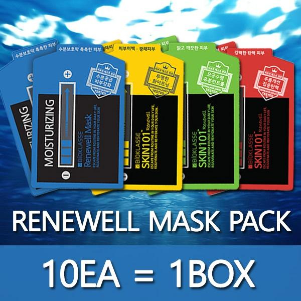 BIOKLASSE RENEWELL MASK 10ea 1box anti-wrinkle / moisturizing / pore-tight