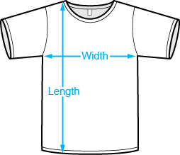 T shirt measurements