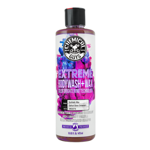 Extreme Bodywash & Wax Car Wash Soap with Colour Brighting Technology (16oz/473ml)