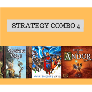 Strategy Combo Offer 4 - Mystic Vale, DC Comics DBG and Legends of Andor - Boardway India