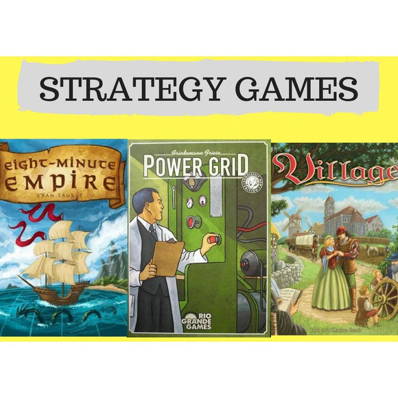 Strategy Combo Offer 1 - Eight Minute Empire, Power Grid, Village - Boardway India