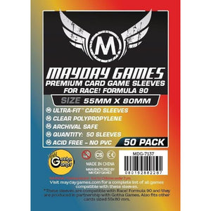 "ZZ 113 Race! Formula 90"" Card Sleeves - Ultra Fit (55x80mm): 50 Premium Sleeves - BOARDWAY INDIA"