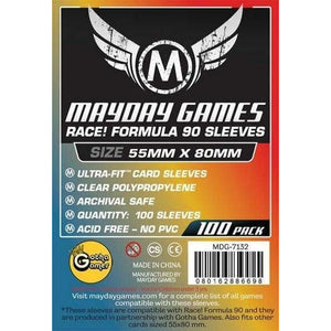 "ZZ 114 ""Race! Formula 90"" Card Sleeves - Ultra Fit (55x80mm): 100 Standard card sleeves - Boardway India"
