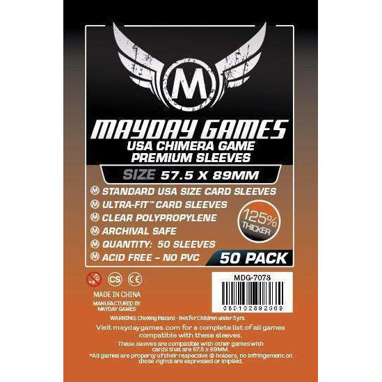 ZZ 117 Standard USA Chimera Card Sleeves (57.5x89mm): 50 Premium Card Sleeves - Boardway India