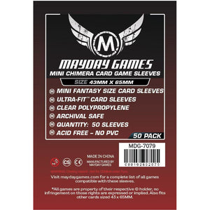 ZZ 103 Mini Chimera Card Sleeves (43x65mm) : 50 Premium Card Sleeves - Boardway India