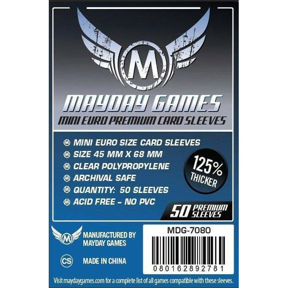 ZZ 105 Mini Euro Card Sleeves (45x68mm): 50 Premium Sleeves - BOARDWAY INDIA