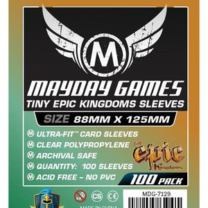 "ZZ 139 ""Tiny Epic Kingdoms"" Card Sleeves (88x125mm): 100  Standard Card Sleeves - Boardway India"