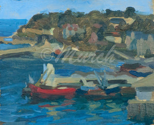 'Brixham Harbour' Oil on Board.