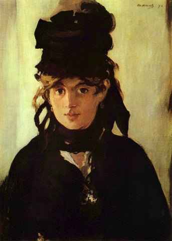 Berthe Morisot Manet 1872 in colour