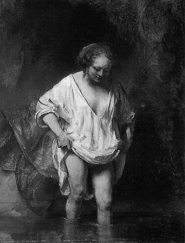 Rembrandt A woman bathing 1654