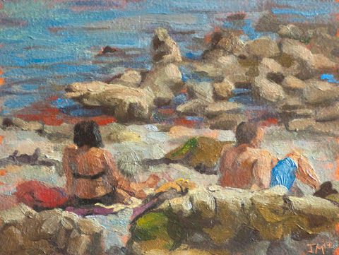 Study for Bathers at Seaton Hole Beach.