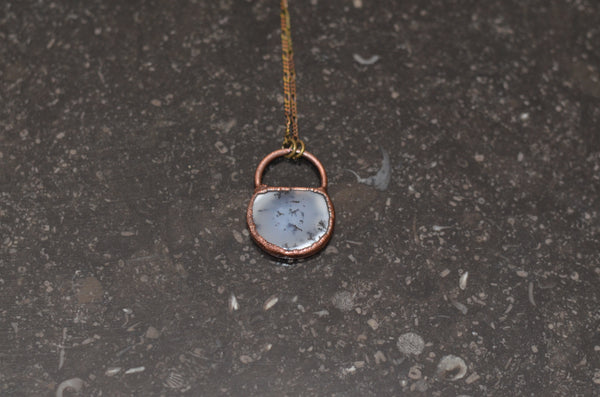 Electroformed Dendritic Agate & Copper Pendant