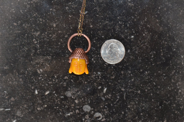 Electroformed Copper Buddha Pendant