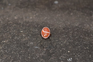 Electroformed Carnelian & Copper Ring Size J