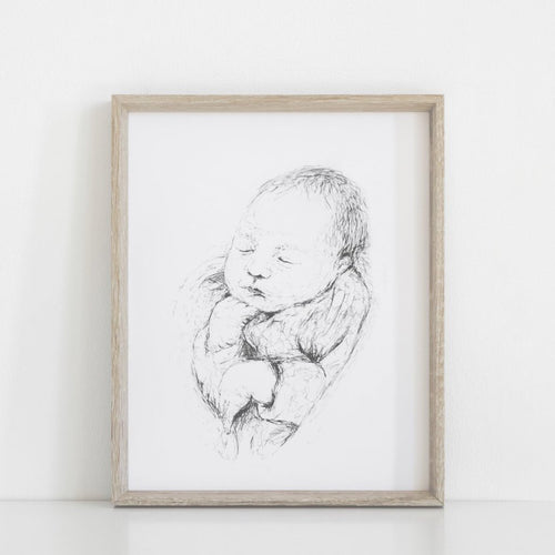 Baby Birth Wall Art, Baby, Barna, New born, Baby boy, Baby girl, new parents, birth, baby portrait, portrait, baby drawing, baby sketch, newborn artwork, baby artwork,