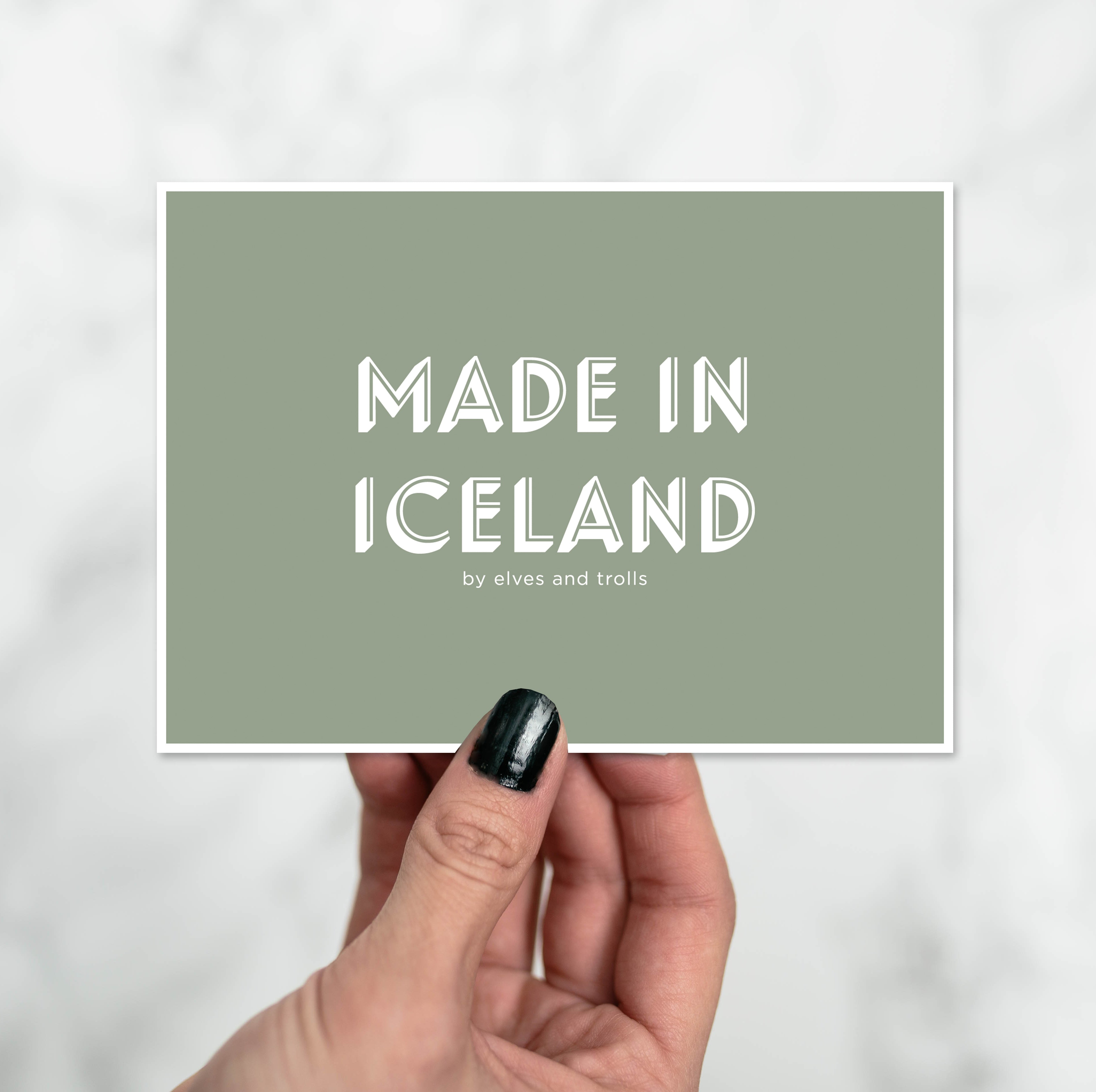 Made In Iceland Postcard