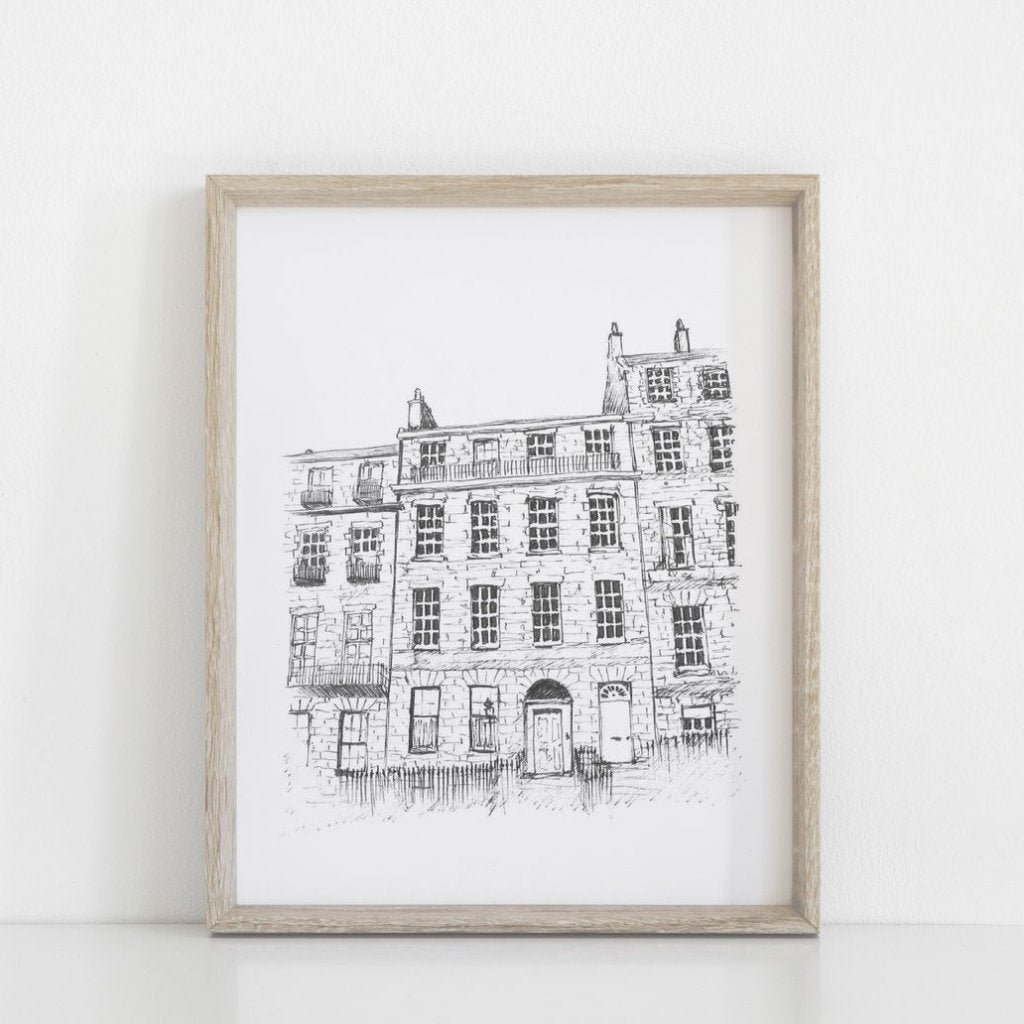 Building Commission, unique gift, thoughtful gift, hand drawing, personalised gift, architectural hand drawing, wedding gift, architectural sketch, portrait,