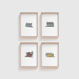 Reykjavik Houses - set of prints 2