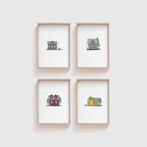 Reykjavik Houses - set of prints 3