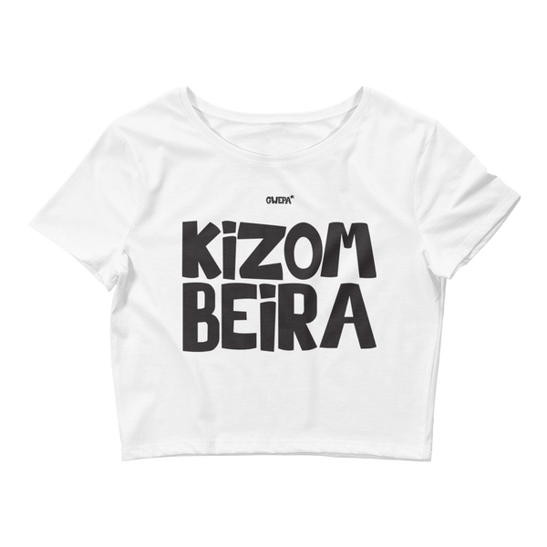 Kizombeira crop top white