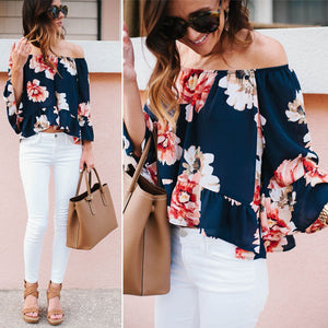 Floral Summer Off Shoulder Blouse