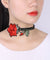 Embroidered Rose Velvet Choker