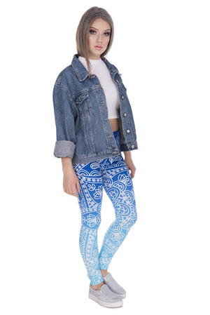 Blue Wonder Mandala Print Leggings