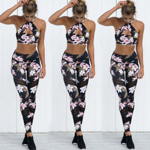 Floral Print Fashion Workout Dance Leggings
