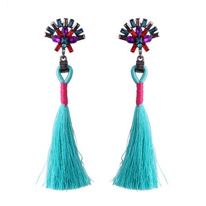 Colourful Long Tassel Earrings