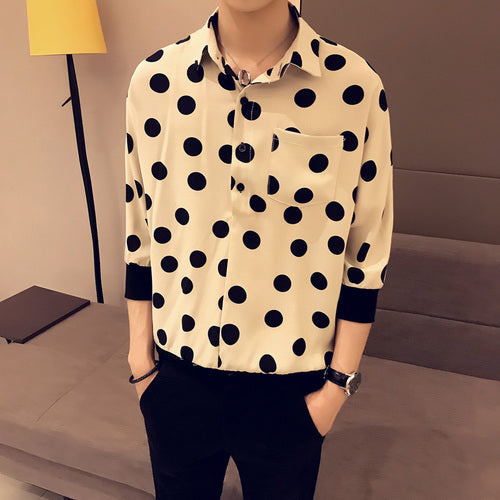 Summer Polka Dot Shirt For Men