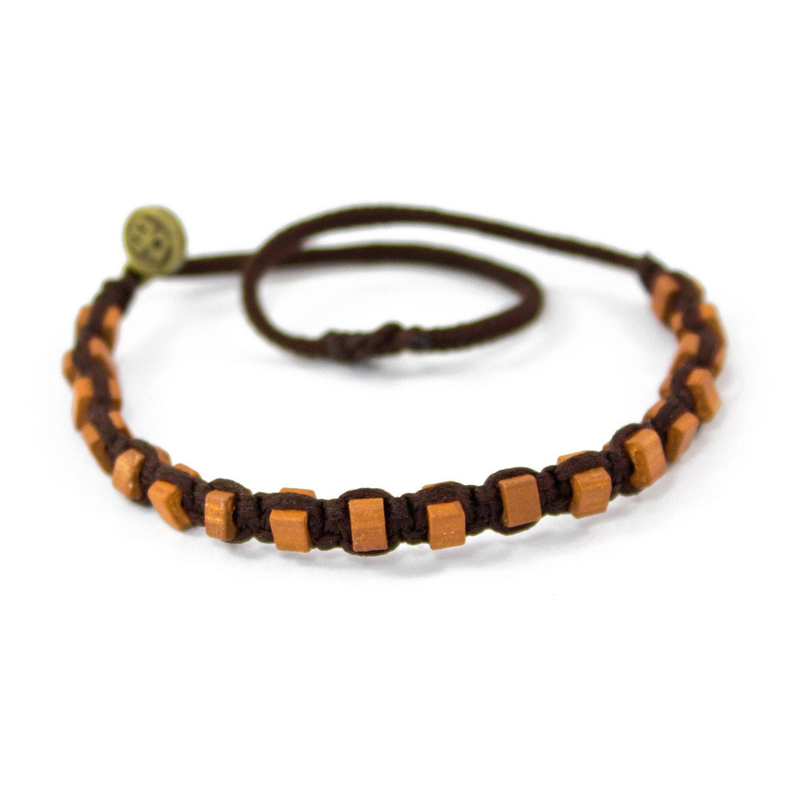 Brown Andes Chocolate Brown macrame artisan bracelets cover